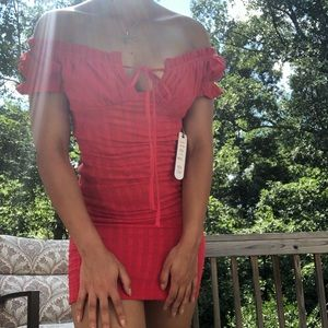 Red fashion nova dress